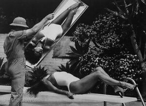 1980-Vintage-Matted-HELMUT-NEWTON-Movie-Actress-RAQUEL-WELCH-Art-14x11