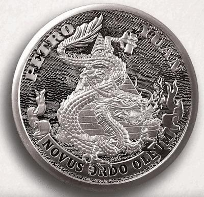 Petro Yuan Silver Shield 2oz Proof 2020 Death of the Dollar #17 Low COA