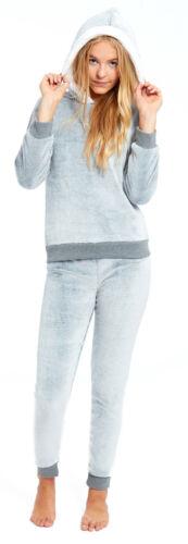 Girls Twosie Hooded Fleece Pyjamas Childrens Kids Pajamas Frosted Grey Hood PJs