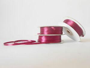Nastro-doppio-raso-3-mm-rotolo-bobina-da-50-mt-Bordeaux-fai-da-te-art-D0320
