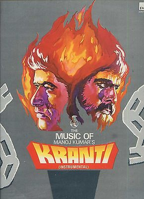 MANOJ KUMAR'S kranti LAXMIKANT PYARELAL bollywood album 1981 NEAR MINT LP