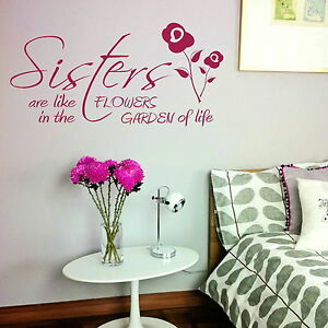 Sisters Quote Wall Sticker  Vinyl Decal Transfer  Mural Graphic Stencil UK X92 - <span itemprop='availableAtOrFrom'>Tamworth, Staffordshire, United Kingdom</span> - Item Must Be in original condition in order to obtain a refund, replacements will be given without need of a return where an error by us has occured, picture evidence will - <span itemprop='availableAtOrFrom'>Tamworth, Staffordshire, United Kingdom</span>