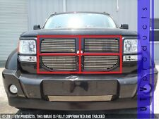GTG 2007 - 2011 Dodge Nitro 4PC Polished Upper Billet Grille Grill Insert Kit