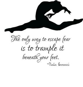 image is loading gymnastics kids wall decal nadia comanei quote 22