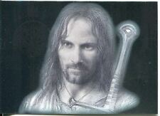 Lord Of The Rings Masterpieces I Silver Foil Chase Card #1 Aragorn