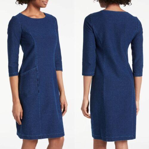 Boden Womens Trinity Jersey Dress Dark Denim Size