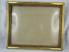ancien cadre en bois doré epoque 1900 demi rond porte photo