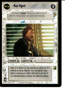 STAR WARS CCG JABBA/'S PALACE BLACK BORDER LIGHT SIDE RARE I MUST BE ALLOWED