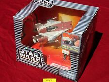 """Star Wars Action Fleet A-WING STARFIGHTER """"Clean"""" Galoob Micro Machines Silver"""