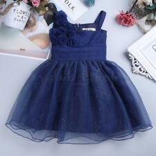 a52d46aa15ef2 Baby Flower Girl Princess Dress Party Wedding Christening Glitter Pageant  Dress