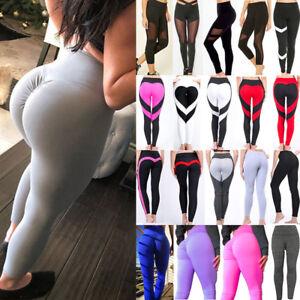 319795ff73 Womens Push Up Sports Scrunch Butt Lift Elastic Leggings Gym Yoga ...