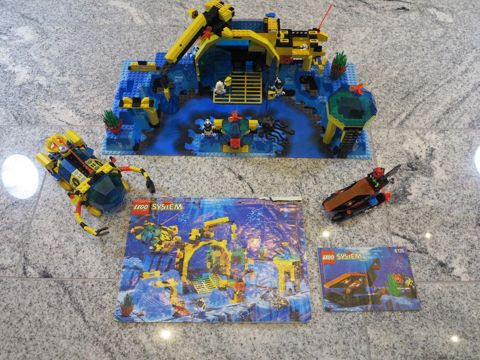 LEGO SYSTEM 6195+6135 Unterwasserstation Aquanauts Neptun Discovery 3D + OBA