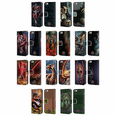 OFFICIAL ANNE STOKES DRAGONS LEATHER BOOK WALLET CASE FOR APPLE iPHONE PHONES
