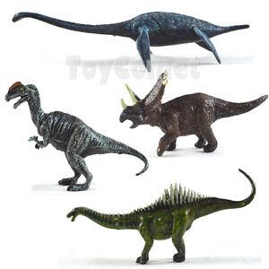 4 pcs Plesiosaur Triceratops Agustinia Dinosaur Animal Figures