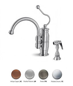 Details about Hamat 3-3175 Danielle Kitchen Faucet w/ Metal Side Spray-  various finishes