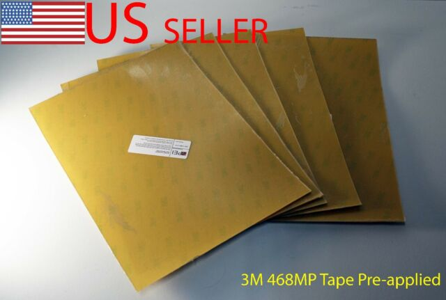 Amber 3M 468MP Tape Pre-applied 3D Printer Build Surface Real PEI Sheet
