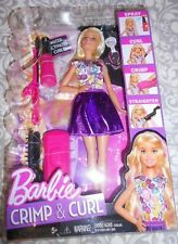D.I.Y CRIMP AND CURLS BARBIE DOLL BRAND NEW REALLY CURL HER HAIR Brand New NIB