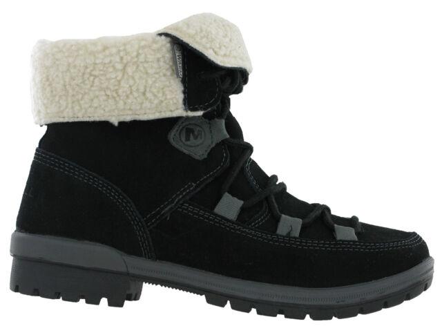 Merrell Emery Lace Warm Fleece Lined Womens Ankle Walking Boots Black UK3.5-8.5