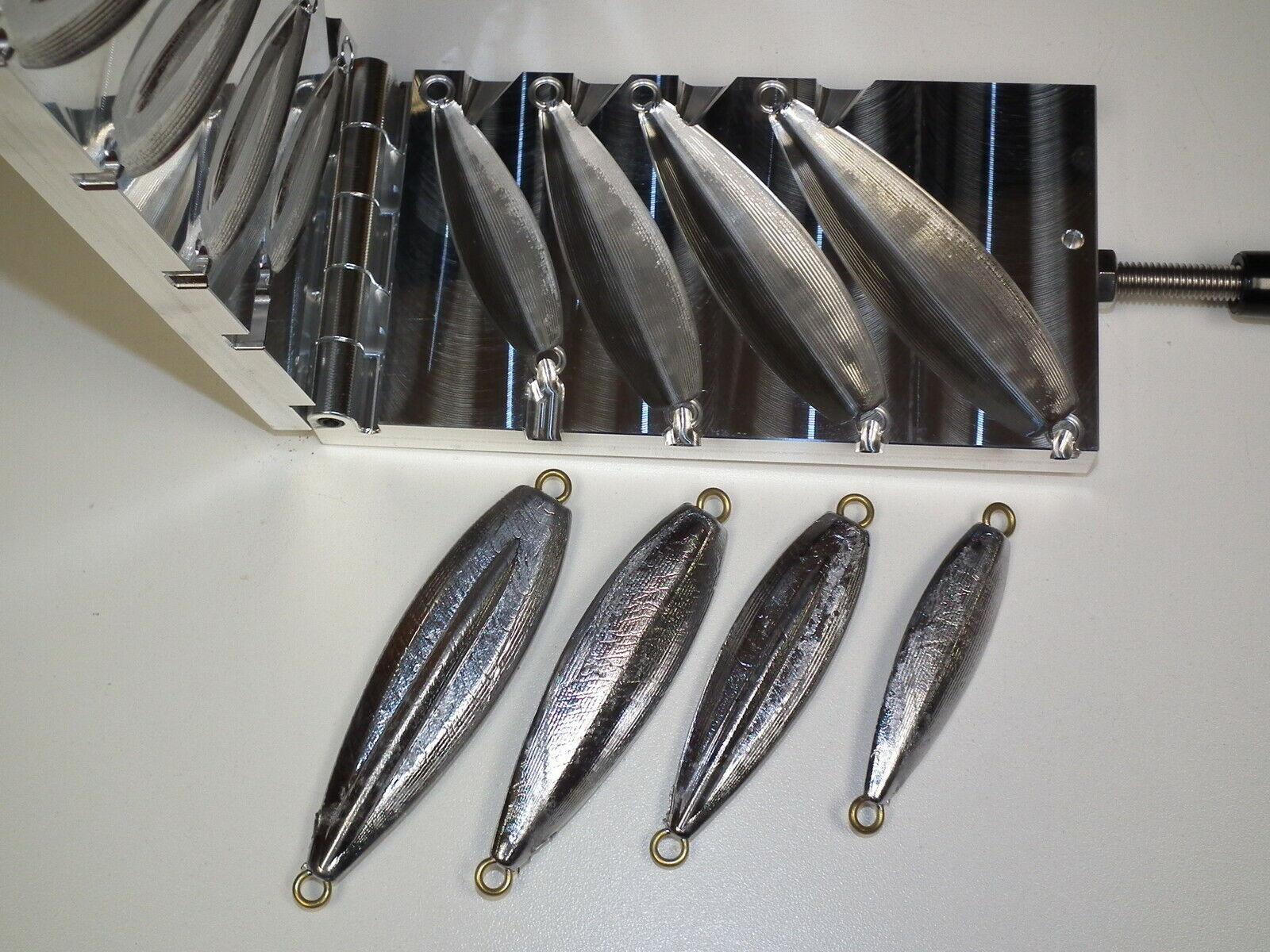 Saltwater Flat Fall Jig mold 3,5,7,9oz CNC Aluminum Flatfall Keel