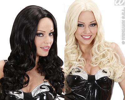 Perücke wie ECHTHAAR, Neuheit:Langhaar Locken Perücke, schwarz, blond im Angebot