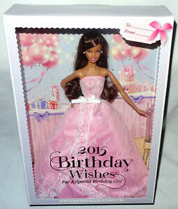 Image Is Loading Barbie 2015 Birthday Wishes Latina Hispanic Doll Figure