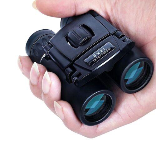 8X21 Compact Zoom Binoculars Range 3000m Folding HD Powerful Mini Telescope EN