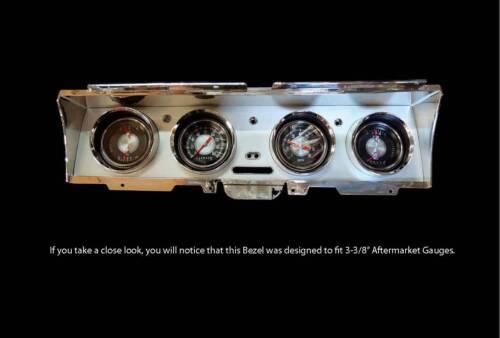 "Fits 3//38/"" Gauges Impala Dash Gauge Bezel and Radio Surround to suit 1968"