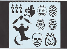 Plastic/PVC/Coated/Paper/Stencil/Multi/Halloween/Mask//Bat/Ghost/Candle/Pumpkin