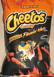 2 Bags Xxtra Flamin Hot Cheetos 3 5 Oz Crunchy Flamin