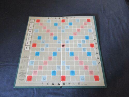 ORIGINAL SCRABBLE BY SPEARS GAMES 1954 SPARES BOARD OR GREY TILE RACK CHOOSE