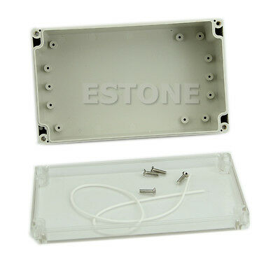 Waterproof Plastic Electronic Project Box Clear Cover Enclosure CASE200x120x75mm