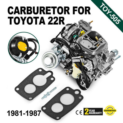 Carburetor Toy-505 For Toyota Pickup 22R 1981-1987 WlGreen Round Plug