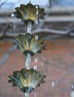 Victorian Trading Co Rain Chain Floral Garden Decoration Free Ship