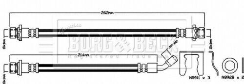 Brake Hose BBH8036 Borg /& Beck Hydraulic 01466SMGE00 Genuine Quality Guaranteed