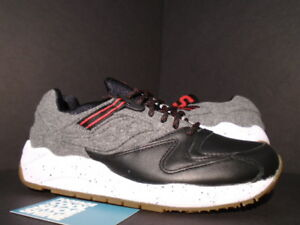 Details about SAUCONY GRID 9000 LETTERMAN S BLACK GREY WHITE RED LEATHER WOOL S70259 1 NEW 7.5