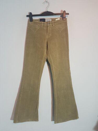 CROSS Damen Stretch Hüft-Jeans  Kord C-476-005 Bootcut  Gr.34-44 Khaki NEU