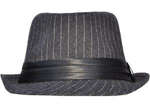 8bbef0abeb4 Stylish Pinstripe Fedora Hat Original Men's Structured Fedora Hat ...