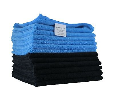 thick /& plush 1 blue microfiber towel new cleaning cloths bulk 16x16 300 gsm!