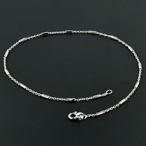 .925 STERLING SILVER 1.7MM ALTERNATING CABLE AND BAR 10 ANKLET FREE SHIPPING
