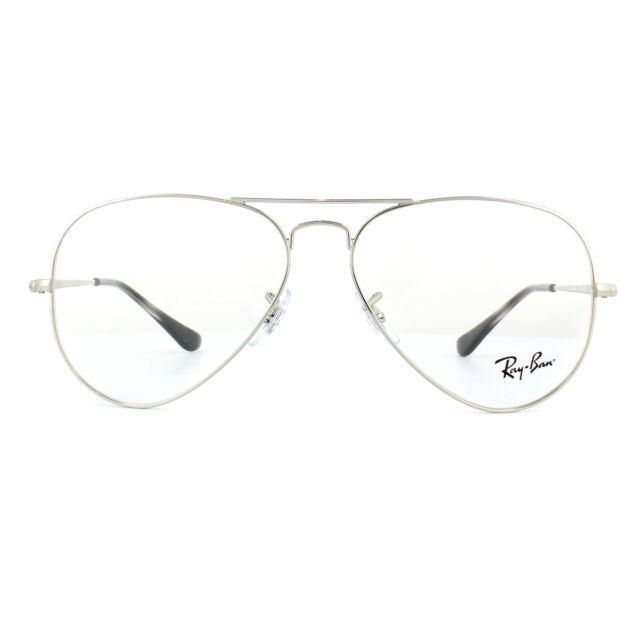 cab3f783eab Ray-Ban Glasses Frames 6489 Aviator 2501 Silver 58mm for sale online ...