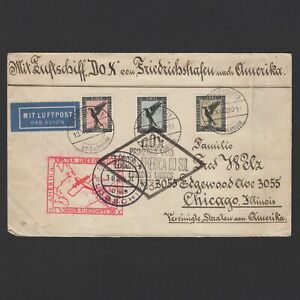 GERMANY-1930-DOX-Flight-on-cover-Germany-to-USA-via-Rio