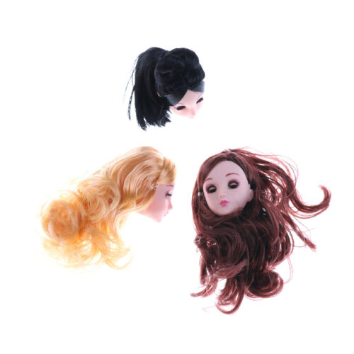 Kids Toy 4D Winking Doll Head with Hair DIY Accessory For 1//6 BJD  DollsTO