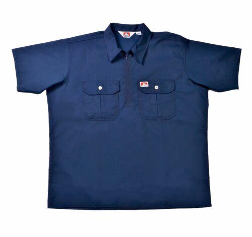 Workwear pag. 1935 ORIGINALE Ben Davis half zip Sleeve Shirt BUTTON POCKET NAVY