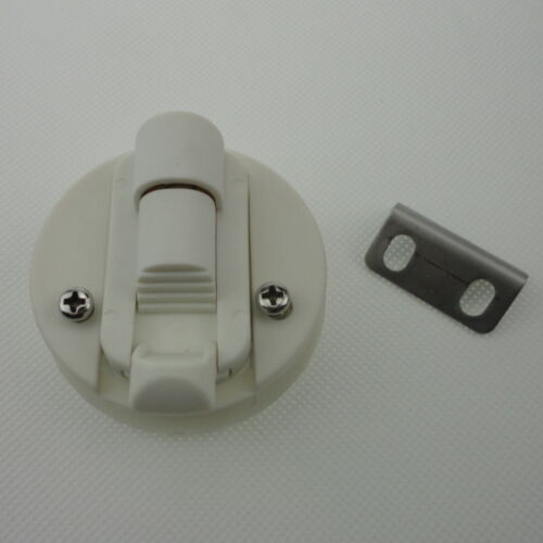 1PC White Plastic Boat Deck Hatch 1//2/'/' Door 2/'/' Flush Pull Slam Latch Durable