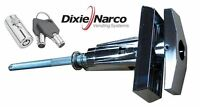 - Dixie Narco Early Style Machines, T-handle Assembly And Key Cover Lock