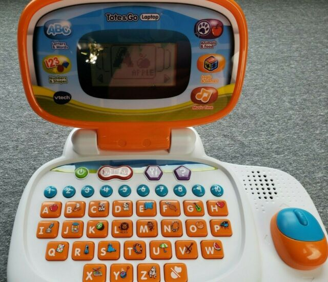 VTech Tote and Go Laptop Learning Toy, Orange Pre-owned | eBay