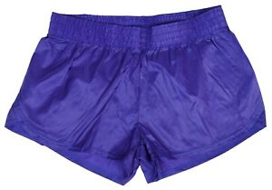 Purple-Shiny-Short-Nylon-Shorts-by-Soffe-Size-Medium
