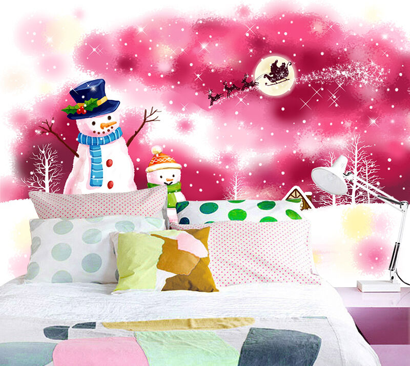 3D Romantic Christmas WallPaper Murals Wall Print Decal Wall Deco AJ WALLPAPER