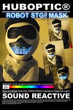 Rave Mask Robot Mask STG0 / Light Up DJ Mask EDM Mask Dancer Glow Party Costume