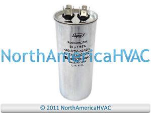 NEW-Motor-Round-Single-Run-Capacitor-50-MFD-370-440-VAC-Volt-Supco-CR50x440R